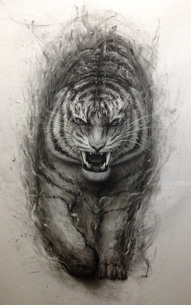 """The King Returns"" (June 2015, Charcoal on Paper)"