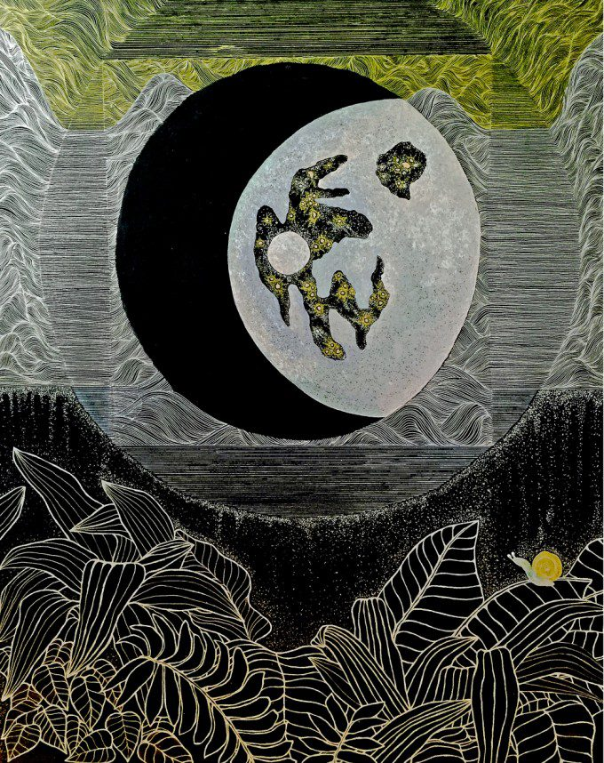 time of the moon_73X91_ mixed_media_on_panel_2014