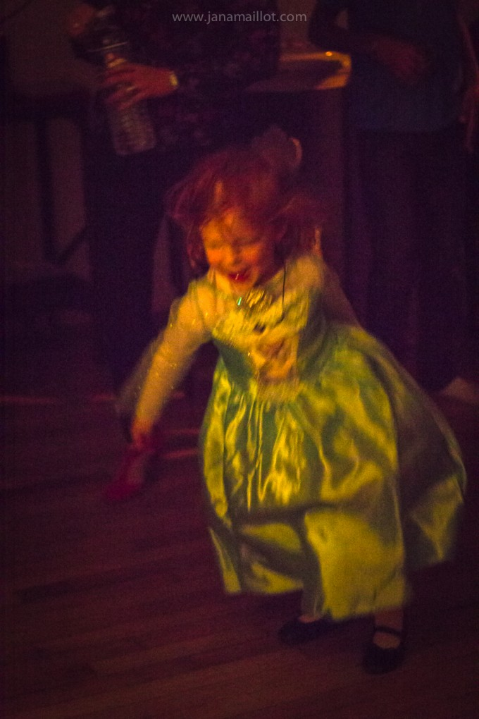 New Year's Eve little lady dancing