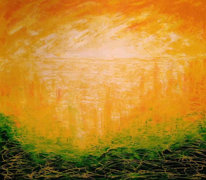 Sunset Oil on canvas 120cm x 107cm
