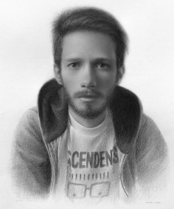self-portrait - graphite on paper