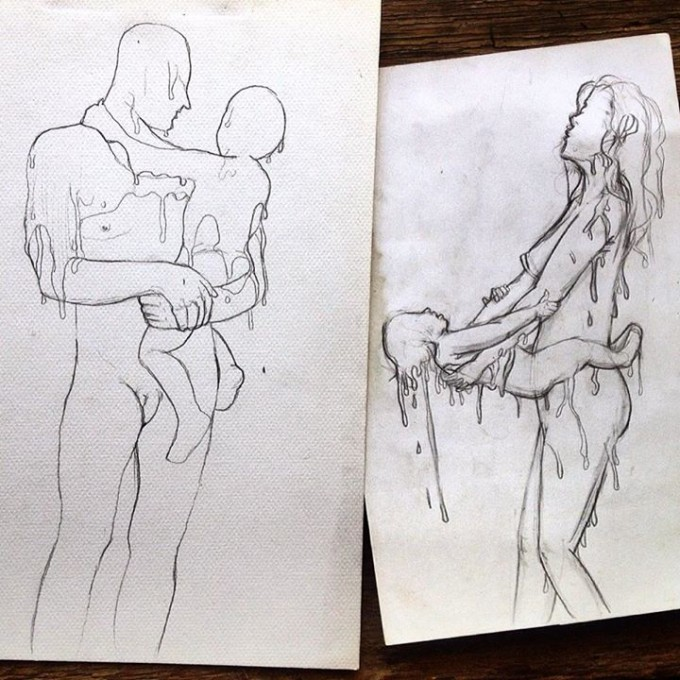 Homme | femme edition #Everydaysketch © Christopher Danang