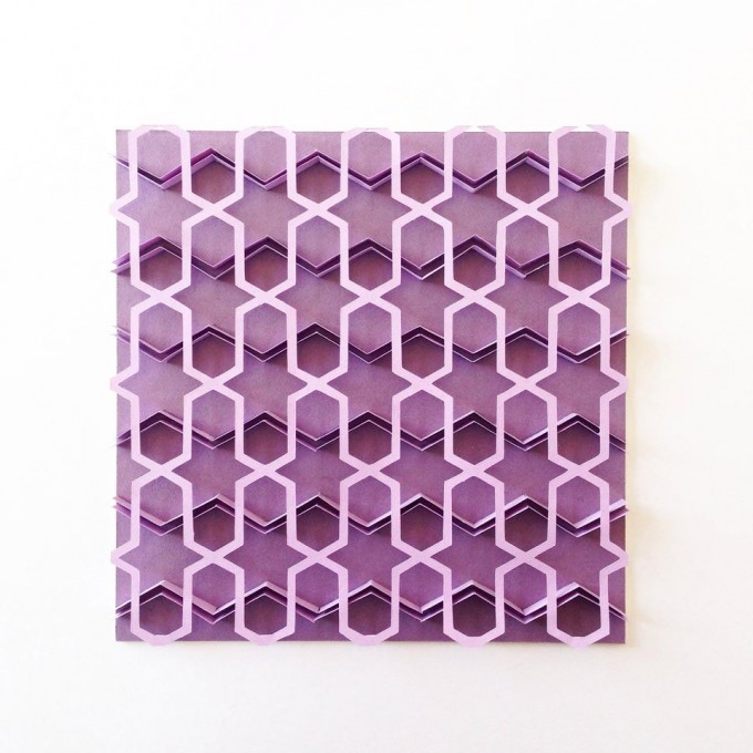 5; Amien; 'Purple Series'; 2015;15cm by 15cm; Paper