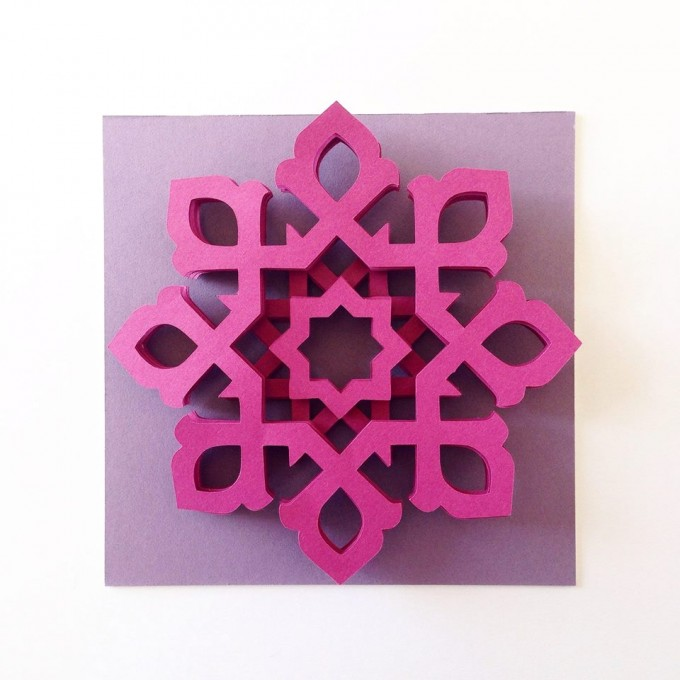 8; Amien; 'Purple Series'; 2015;15cm by 15cm; Paper