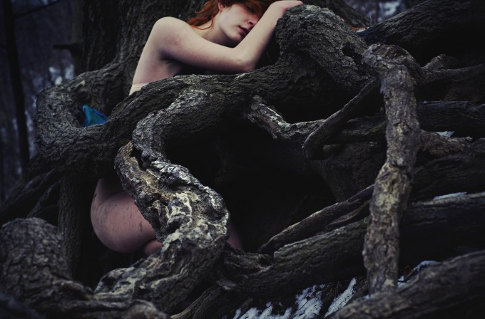 """She lived among the trees, as they wrap around and protect her..."""