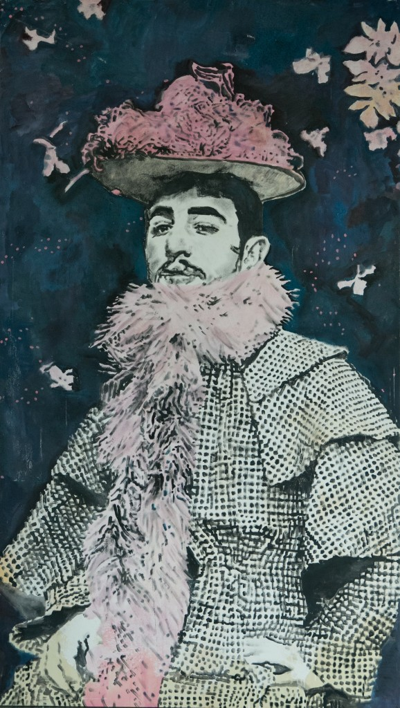 andrea saltini: Henri de Toulouse Lautrec with scarf and hat Jaine Avril