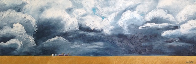 Storm Clouds II 120cmx 40cm Oil on canvas