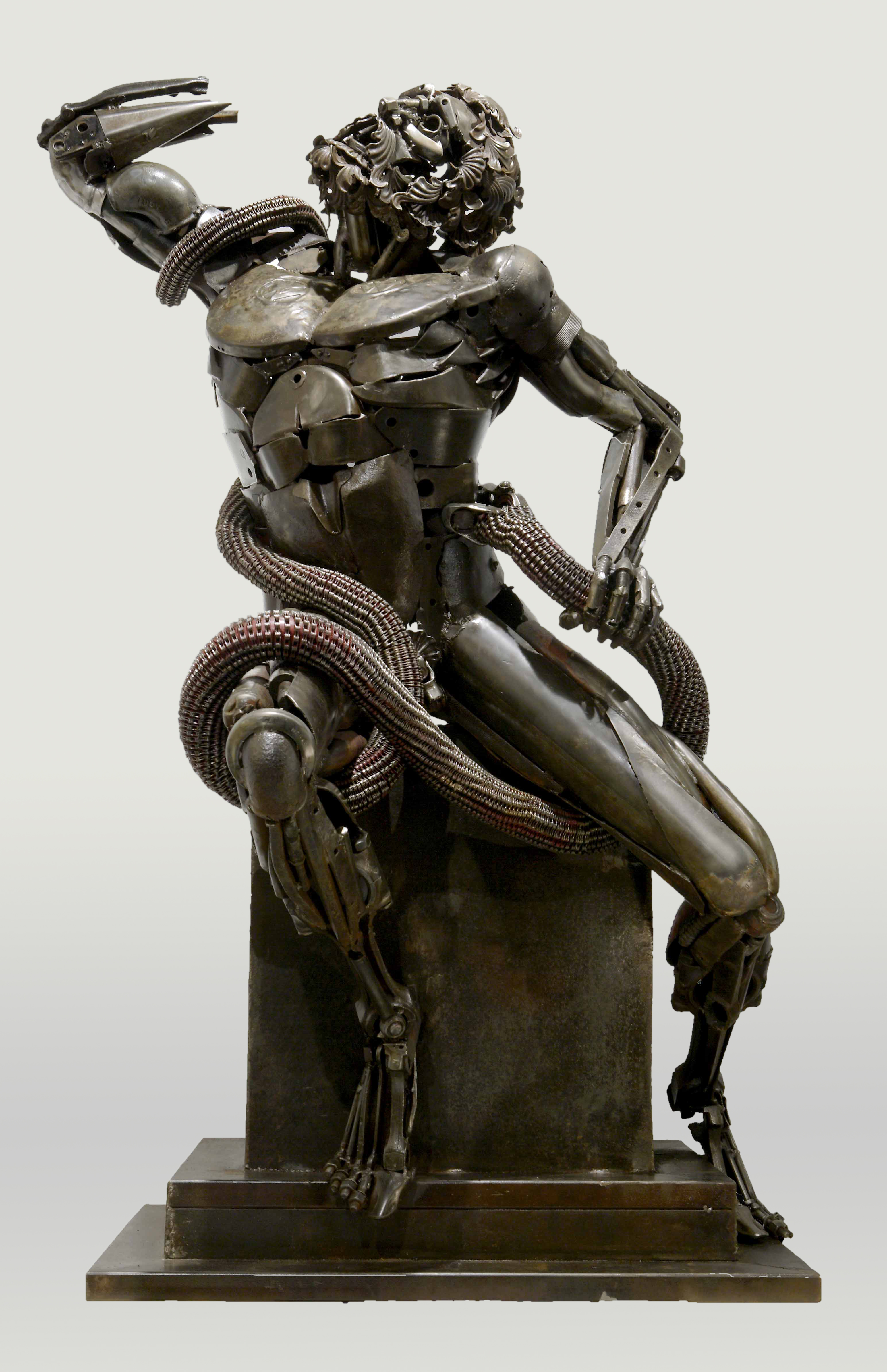 Scrap metal sculptures by patrick alo art people gallery