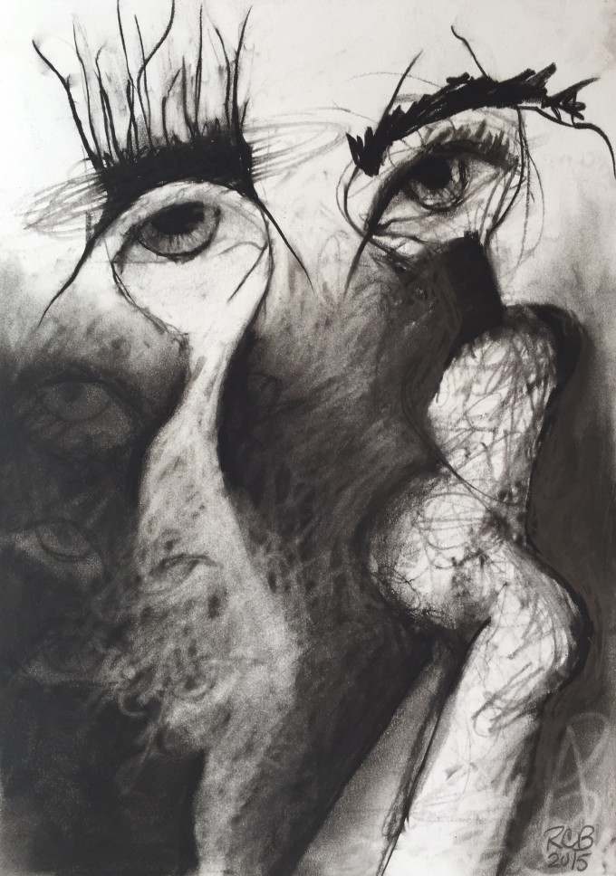 Maturity by Ruth Chase 2015 Charcoal on Paper