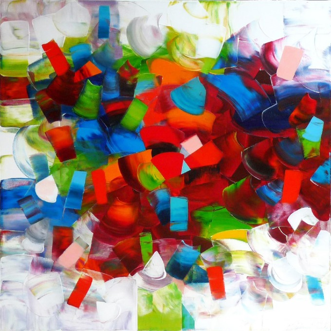 Stephanie Rivet - Euphorie collective 48x48