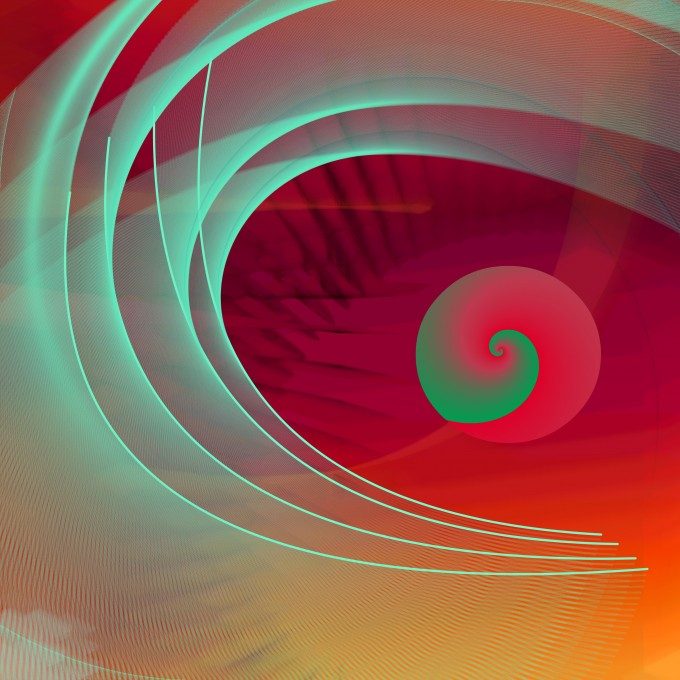 Swirl - digital painting by Francene Levinson