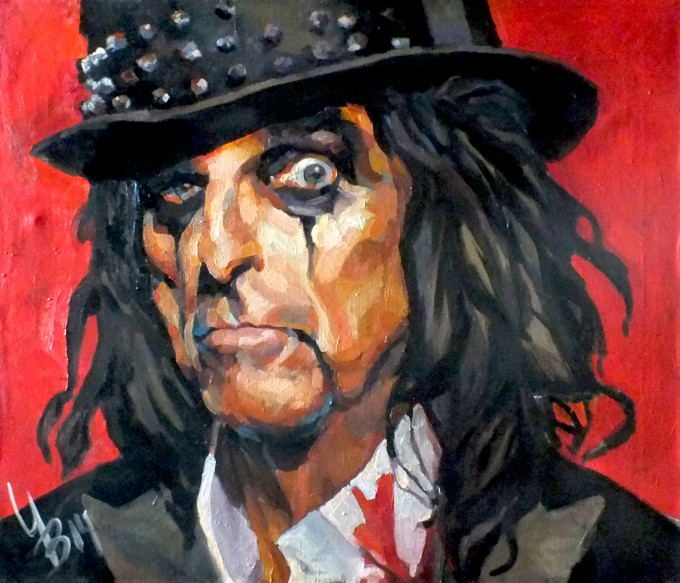 """The head of Alice Cooper"""