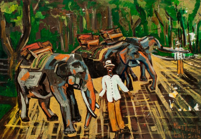 bali-elephants-40x50cm-acrylic-canvas2012