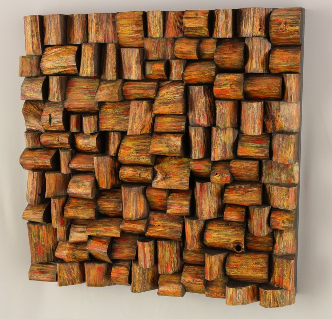contemporary wooden art, art of acoustic diffuser