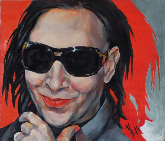"Triptych ""Marilyn Manson"". Left part."