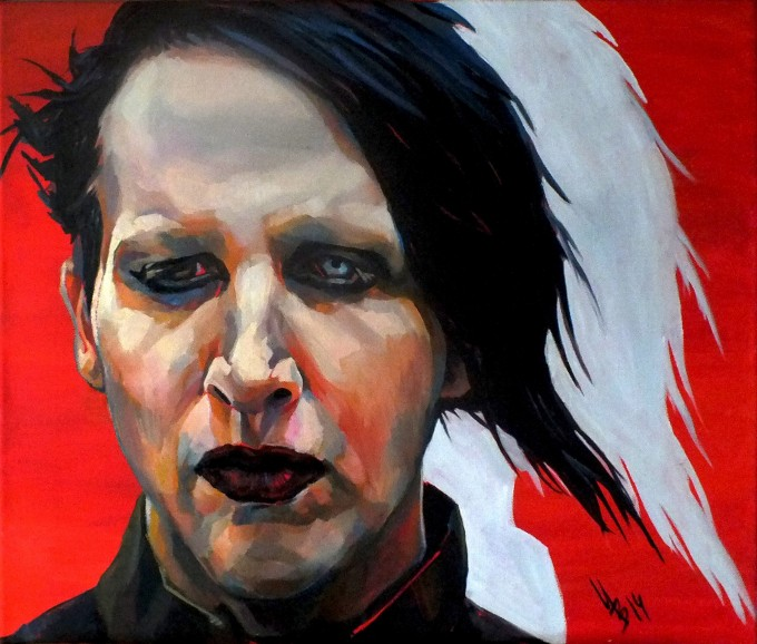 "Triptych ""Marilyn Manson"". Right part"