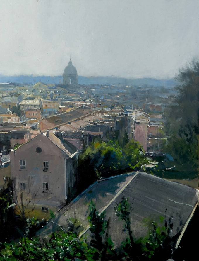 roman view - oil on board - 38x51cm