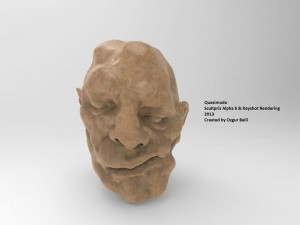 'Quasimodo' Digital Sculpture Instalation Sculptris Alpha 6  & Keyshot Rendering 2014