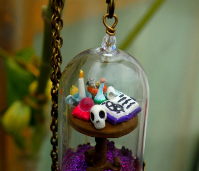 Witch's Table Glass Dome Pendant