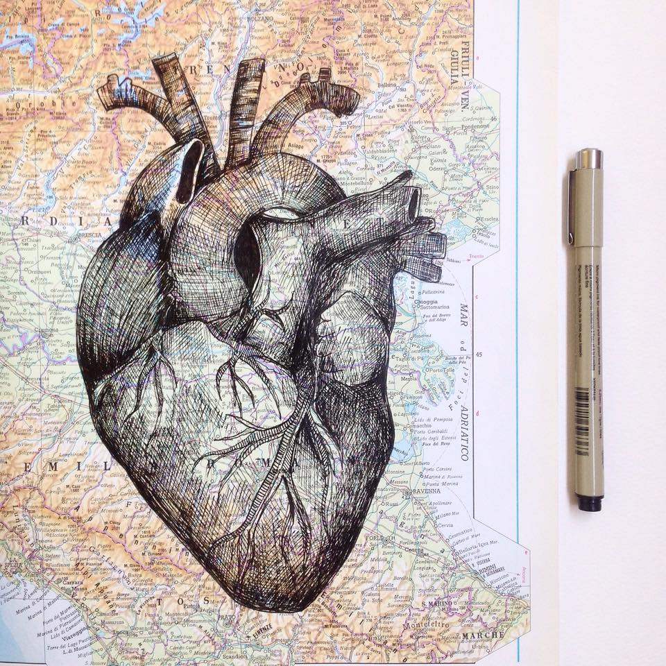He Mainly Draws With Black Inked Pen Art People Gallery