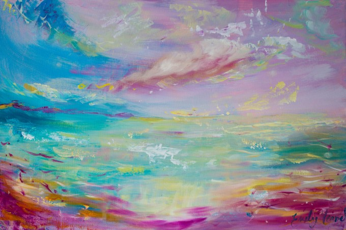 Impressionist Sunset Painting