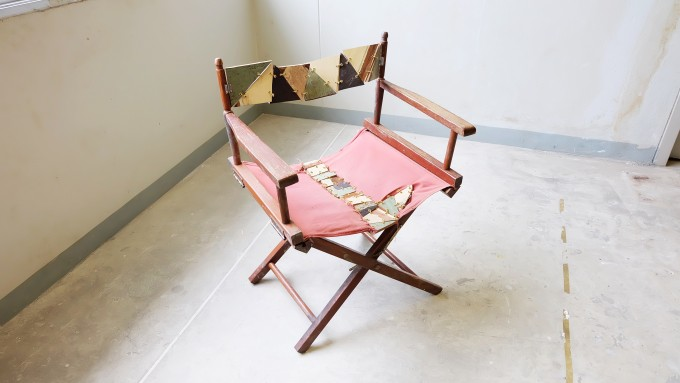 """Folding chair"" The Assembly of Wood and ring"