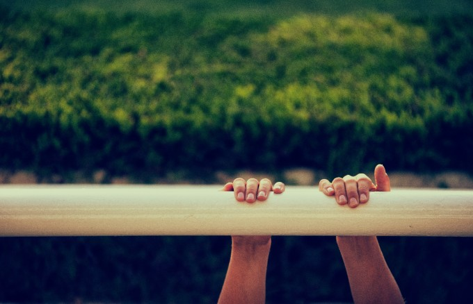 A boy at the Horse Races