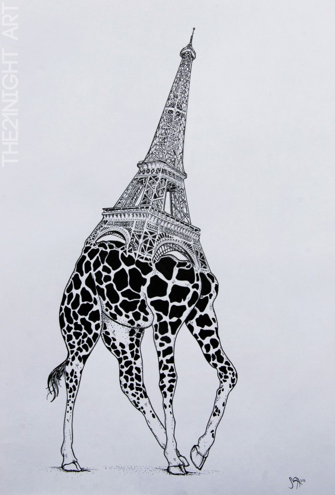 Eiffel tower & Giraffe