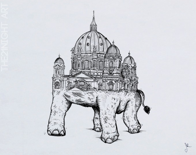 Berlin Cathedral & Elephant