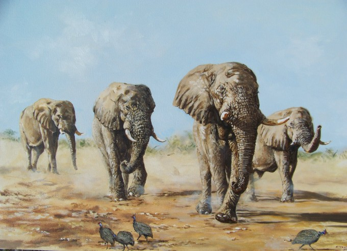 Elephants Return - Robert Teeling - www.robteelingart.com -100_7401