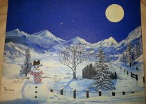 A Celestial Wintry Night (print)