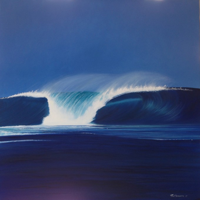 Wave 63  Oil on canvas  70 x 70 cm