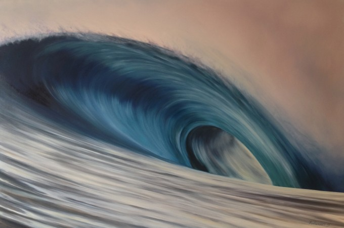 Wave 67   oil on canvas  90 x 60 cm