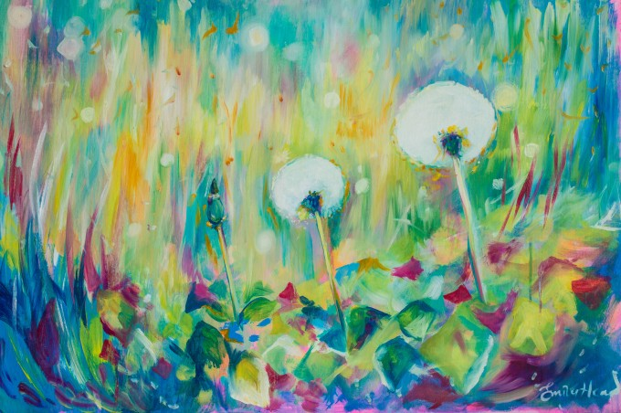 dandelion, dandelion art, uk artist, contemporary art