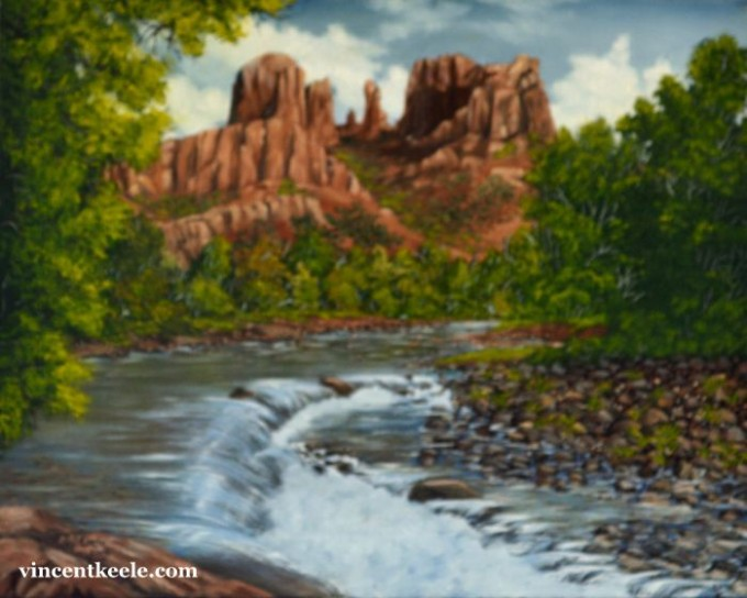 Sedona is a Plein-Air Oil Painting