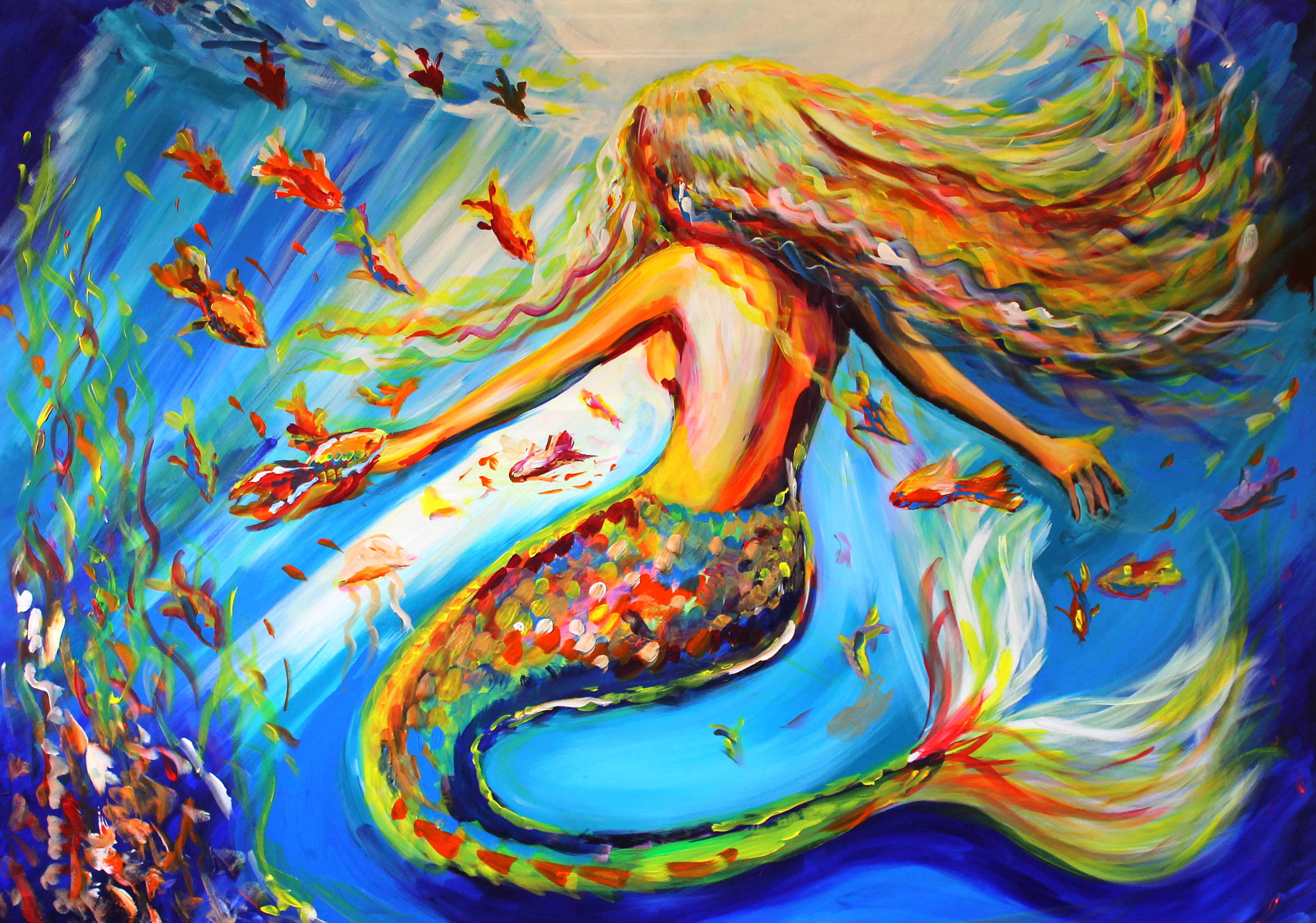Whimsical and dreamlike paintings by emily louise heard for Art and craft drawing and painting