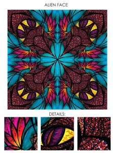Illustration - Pattern design -  Medium: ink - copic markers and adobe photoshop