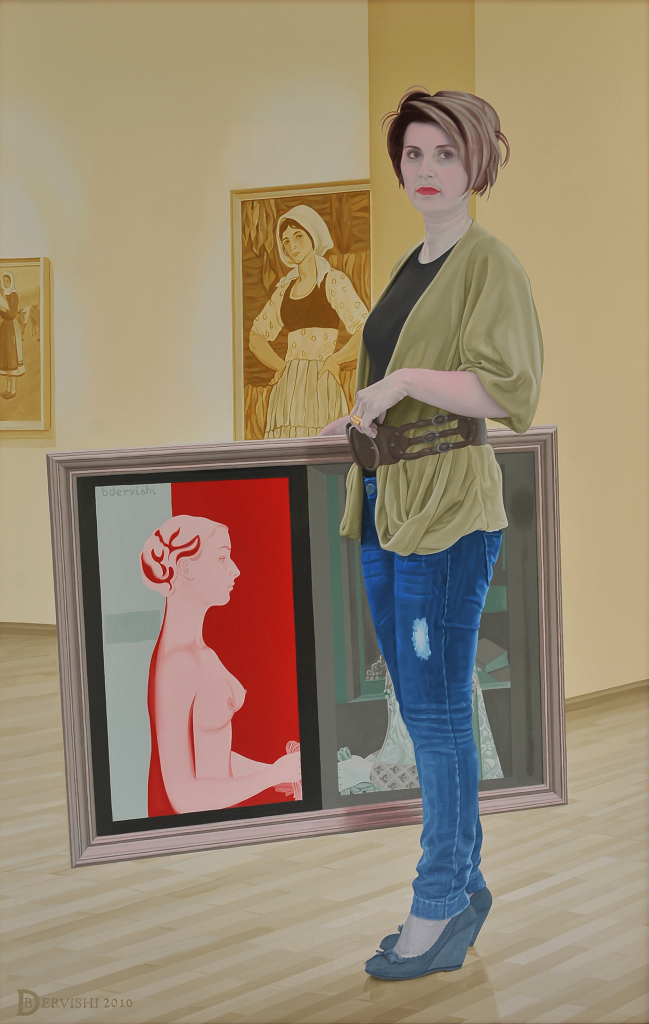 The subject is inspired by the different paths that females have taken in different time periods, i portrayed an artist which is surrounded from her artwork made in different time periods such as renaissance, communism and our time.