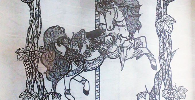 carousel of fertility (paper cutting work)