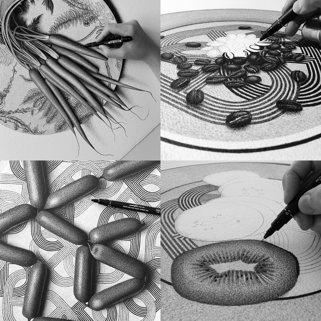 Pen And Pencil >> 50 Photorealistic Foods Drawings in 50 Days by CJ Hendry ...