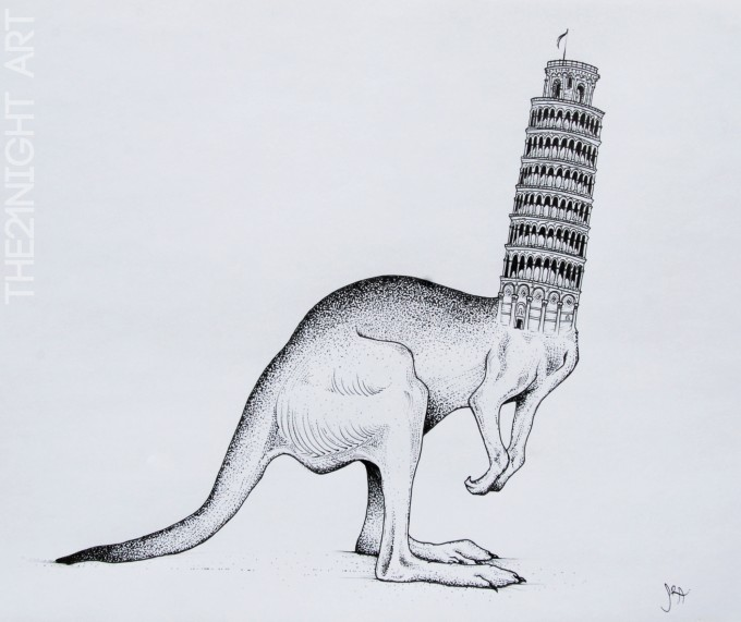 Pisa Tower & Kangaroo