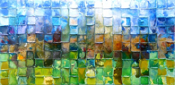 Landscape Mosaic,Caroline Ashwood | What colour is happy?