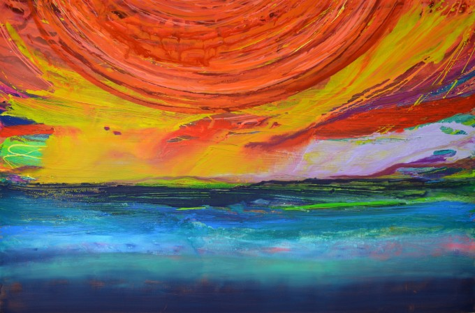 Sunset Sea,Caroline Ashwood | What colour is happy?