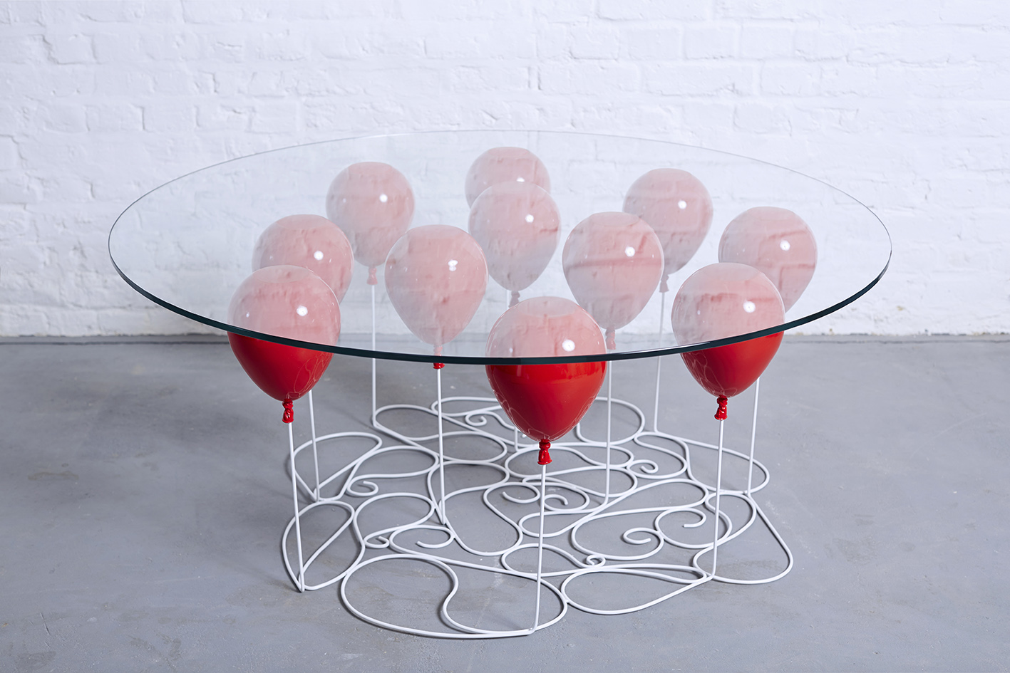 Helium Balloons Hold The Table Art People Gallery