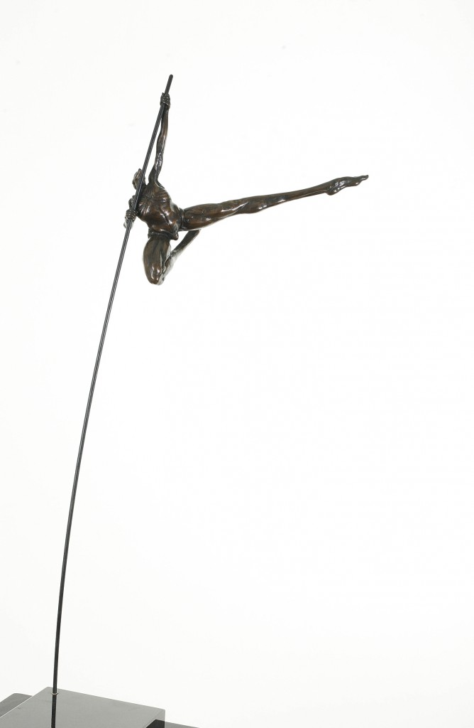 Donald Liardi at Skelly Gallery phone 613 674 2987, SMALL VAULTING (long shot), 12 x 10 x 4, $4200, 21 left. Photo by Nik Schnell