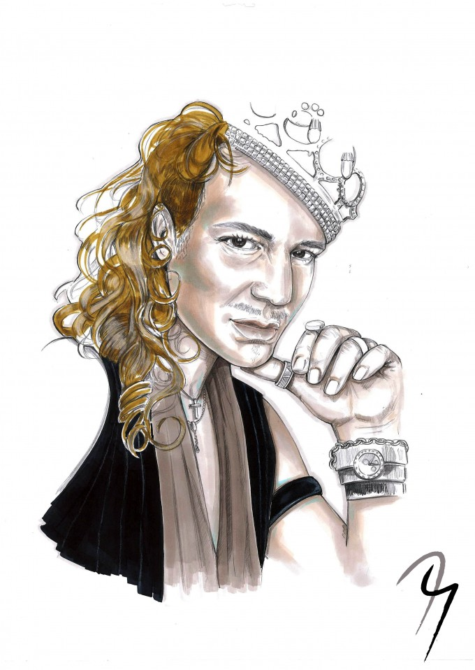 John Galliano,  Fashion Illustration by Nejla Yilmaztürk