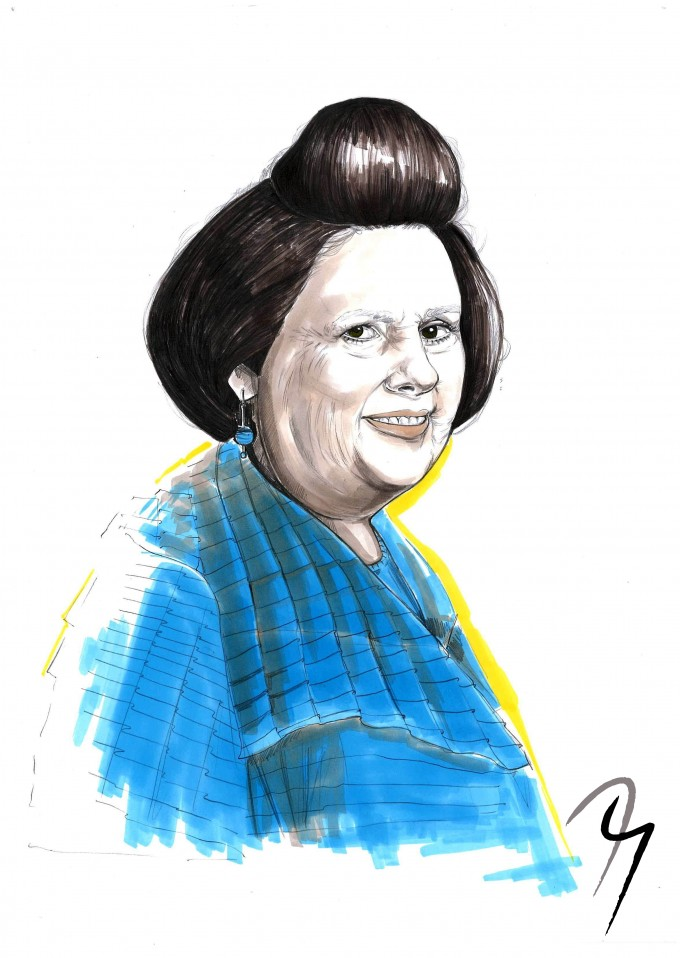 Suzy Menkes, Fashion Illustration by Nejla Yilmaztürk