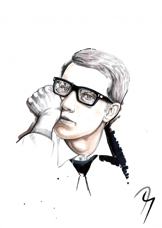 Yves Saint Laurent, Fashion Illustration by Nejla Yilmaztürk