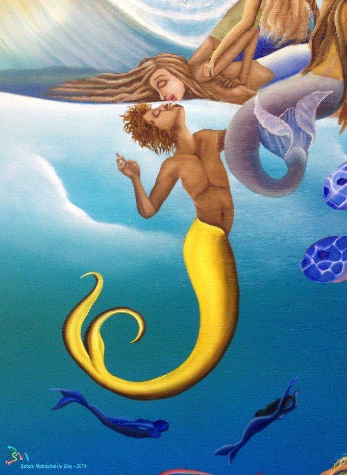 Babak painting - Mermaids Love