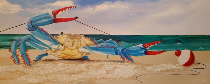 Crab Fishing 20X40 Acrylic